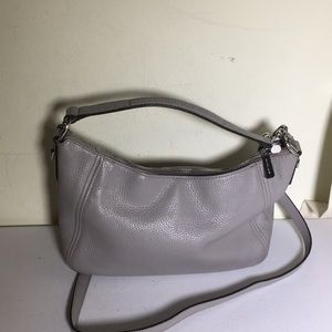 Michael Michael Kors gray leather Crossbody  bag